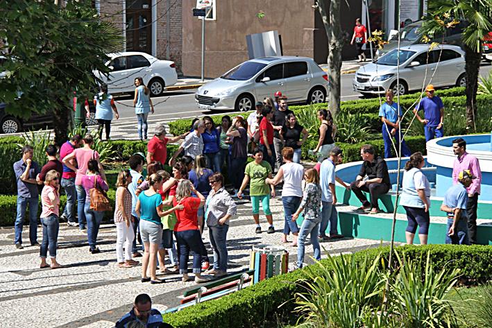 Prefeitura dia de protesto servidores