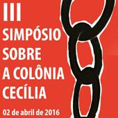 Simpósio Colônia Cecília cartaz