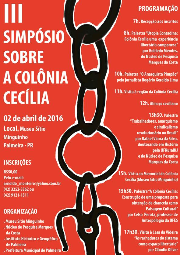 Simpósio Colônia Cecília programa