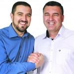 Da esq. p/ a dir.: Abimael do Valle e Geraldo Chaves Alves