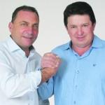 Da esq. p/ a dir.: Marcelo Hauagge Distéfano e João Marchaukowski.