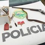 Polícia Ambiental verifica destruição em floresta e apreende arma e animal silvestre no interior