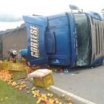Caminhão tomba na PR 151 no Pinheiral_4