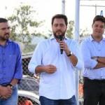 Legenda: prefeito Abimael do Valle, secretário Ratinho Junior e deputado estadual Guto Silva