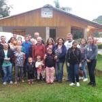 Participantes da visita na família Gurski