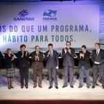 Autoridades presentes no lançamento