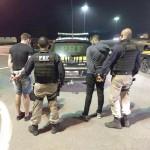 Jovens presos pela PRF