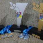 Troféus e medalhas da Bruna