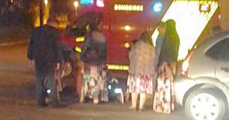 Acidente moto X carro na rua 15 com sete de abril
