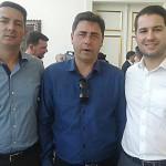 Marcos Ribas e Eloir com Paulo Litro