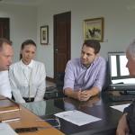 Prefeito Edir_primeira dama Ana Paula e Paulo Litro com o secretário Rossoni