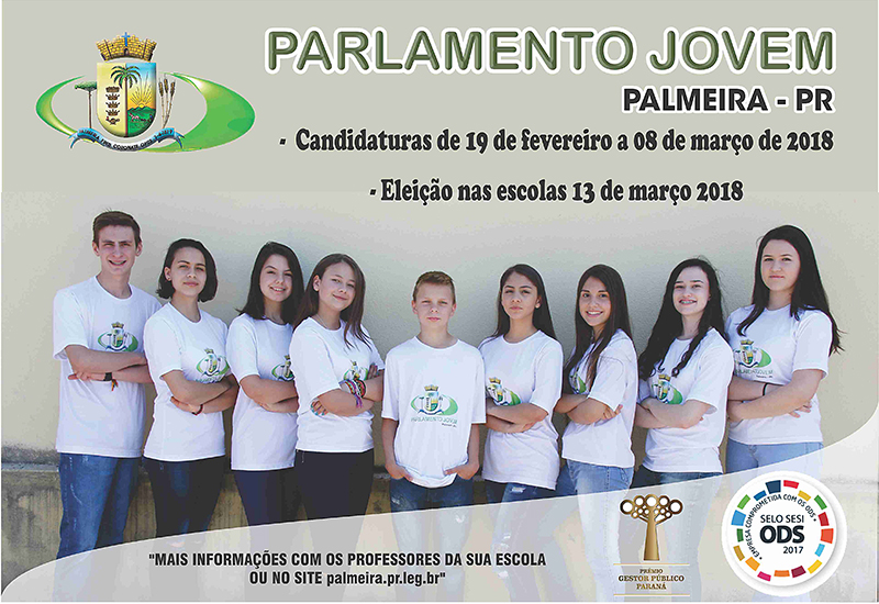 Cartaz Candidaturas do Parlamento Jovem de 2018