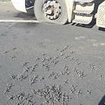 Miguelitos na pista para furar pneus
