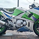 Moto Kawasaki_acidente na PR 151 em Faxinal dos Silva