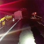 Acidente na BR 277 caminhão e Van_1