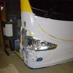 Acidente na PR 151 com carro e ônibus que ia para o Chile