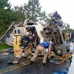 Acidente na PR151 entre ônibus e caminhão _5