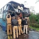 Acidente na PR151 entre ônibus e caminhão _7