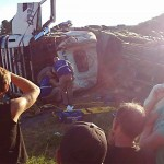 Acidente com dois caminhões na PR 151 na Serrinha em Palmeira_2