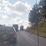 Caminhão quebrado na PR 151 em Palmeira causa congestionamento_1