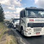 Caminhão quebrado na PR 151 em Palmeira causa congestionamento_4