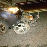 Acidente auto x moto no km 196 em Queimadas_1_foto Isaias Ribeiro da Cruz