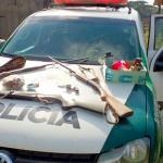 Polícia Ambiental apreende armas em propriedade no ieterior de Palmeira_1