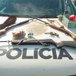 Polícia Ambiental apreende armas em propriedade no ieterior de Palmeira_2