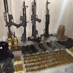Armamento apreendido pela PM e Bope em Agudos do Sul_foto divulgação PM