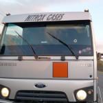 Caminhão que alvejado pelos assaltantes na PR 151_foto reprodução redes sociais