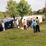 Caminhão que tombou em  Coxilhão do Meio na PR 151__5