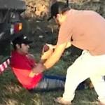 Motorista de caminhão ferido de raspão no tórax_na PR 151 em Palmeira_foto redes sociais