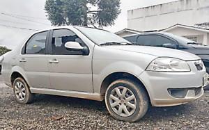 Siena roubado foi recuperado abandonado_Foto Rádio Ipiranga