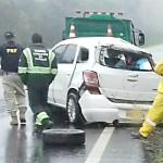 Veículo Spin capota na BR 277 entre Irati e Palmeira_foto PRF_1