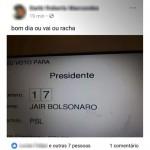 Eleitor de Porto Amazonas posta foto de seu voto em rede social