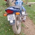 Moto apreendida em Vileiros