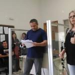 Palestra para mesários com a Juíza Cláudia Sanine Ponich Bosco_2_foto Riomar Bruno Ferreira