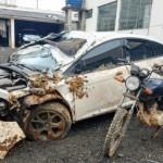 Veículo é roubado e dona do carro é levada como refém e ladrões acabam capotando na PR 151_foto Bruna Camargo_2