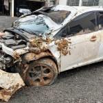 Veículo é roubado e dona do carro é levada como refém e ladrões acabam capotando na PR 151_foto Bruna Camargo_3