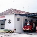 Fachada do Corpo de Bombeiros de Palmeira do início das atividades em 1998