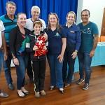 Premiação da Maratona Intelectual do Rotary_prêmio de quarto lugar_Luisa Viana da Escola Municipal de Witmarsum _foto Moacir Guchert