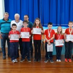 Premiação dos sete alunos que conquistaram medalhas na Olimpíada Brasileira de Astronomia (OBA)