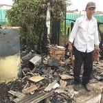 Vândalos ateaim fogo em edificação de medeira em Cemitério_4