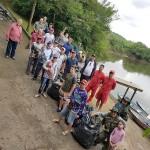Ação de limpeza no Rio Iguaçu pelo Rotary Club de Palmeira e Iate Clube em comemoração ao Dia do Rio-foto divulgação (13)