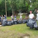 Ação de limpeza no Rio Iguaçu pelo Rotary Club de Palmeira e Iate Clube em comemoração ao Dia do Rio-foto divulgação (8)