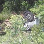 Caminhão carregado de bebidas tomba na PR 151 (3)