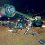 Carro capota em estrada rural de Palmeira e passageiro morre no acidente_1_foto rede social WhatsApp (1)