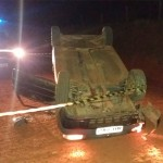 Carro capota em estrada rural de Palmeira e passageiro morre no acidente_1_foto rede social WhatsApp (3)
