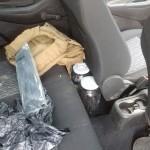 Veículo Ford Ka abandonado na BR 376 por assaltantes_foto PRF_3