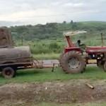 Caminhão carregado de batatas pega fogo na PR 151_9